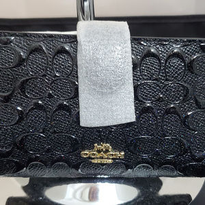 Coach Signature Debossed Corner Zip Medium Wallet